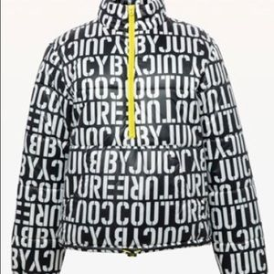 Juicy Couture Black Stencil Puffer Jacket Size XS